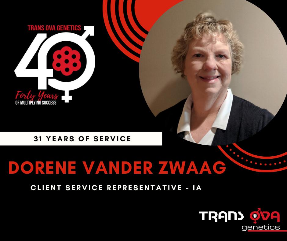 40th Anniversary Spotlight – Dorene Vander Zwaag