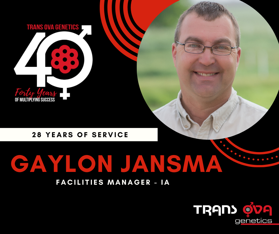 40th Anniversary Spotlight – Gaylon Jansma