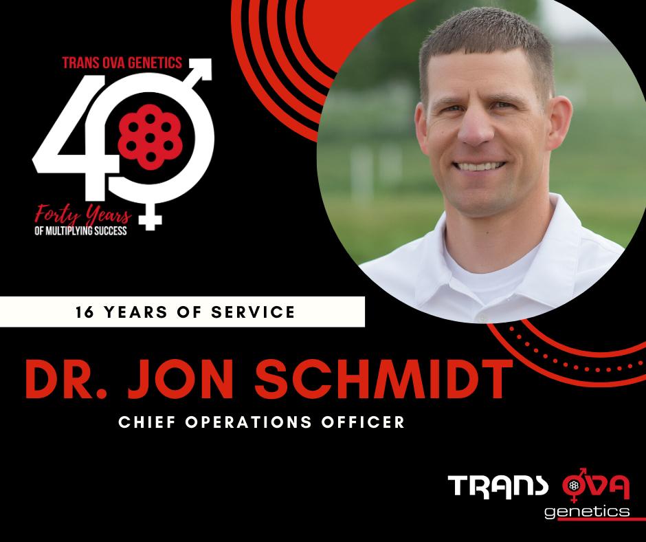 40th Anniversary Spotlight – Dr. Jon Schmidt