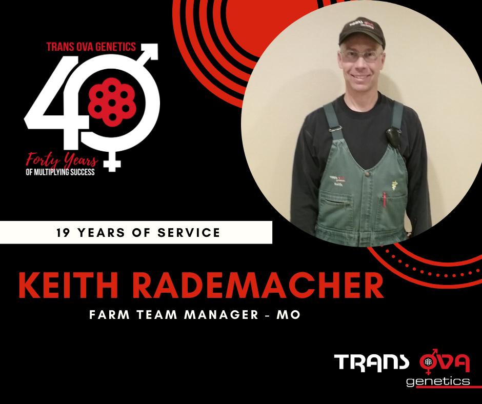 40th Anniversary Spotlight – Keith Rademacher